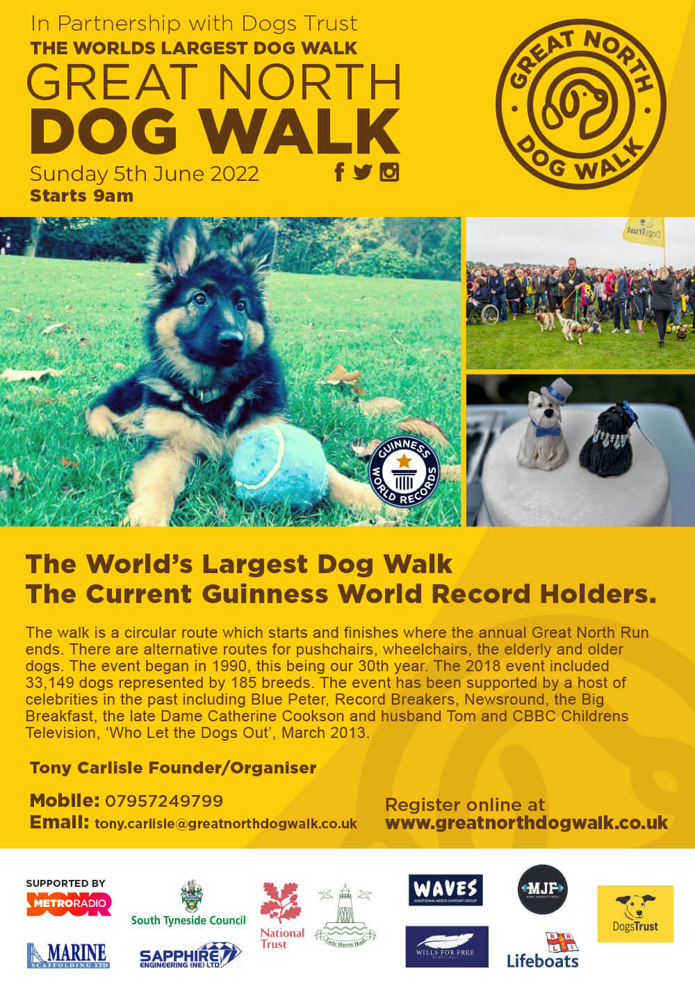 Great north dog walk poster